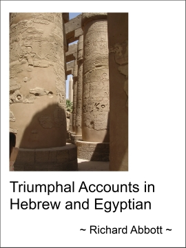 Triumphal Accounts in Hebrew and Egyptian cover