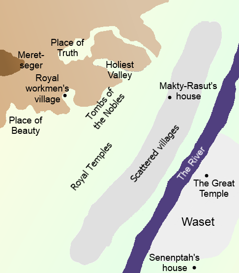 The area around Waset