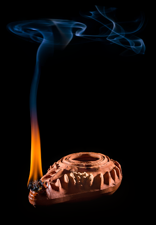 Lamp and smoke cover image part